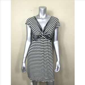 Max Studio Dress Stripe Sheath Short Sleeve